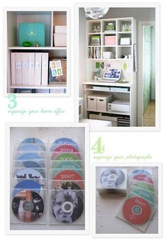 ideas-for-summer - organize photos onto cd's by event/year and store