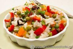 Reteta culinara Salata de orez cu ardei si masline din Carte de bucate, Salate. Specific Romania. Cum sa faci Salata de orez cu ardei si masline