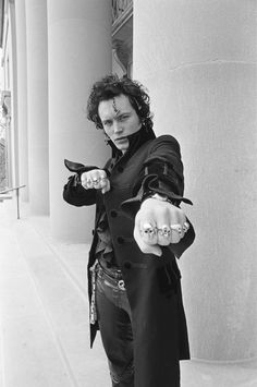 Adam Ant, born Stuart Leslie Goddard (1954) - English musician who gained popularity as the lead singer of New Romantic/post-punk group Adam and the Ants and later as a solo artist. Photo by Michael Grecco, 1981