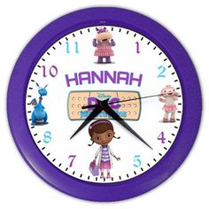 Disney Doc McStuffins Personalized Wall Clock  Great by KusCase, $14.99