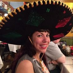 She's rockin' that sombrero!