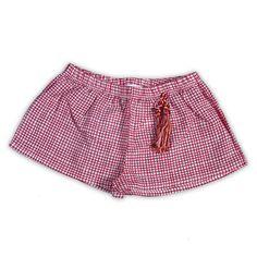 Da 2 a 12 anni Femmina Short pantalone corto a quadretti bianco e rosso P/E 2016