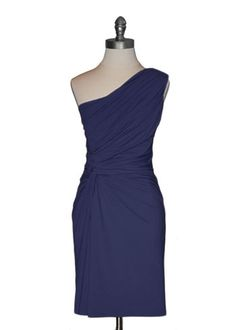 Ark & Co - Ruched Navy Dress - $69