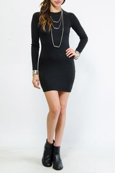 Solid Knit Bodycon Dress