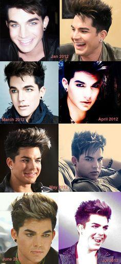 Adam Lambert's Hair Styles From January 2011 to December 2012 | Adam Lambert 24/7 News