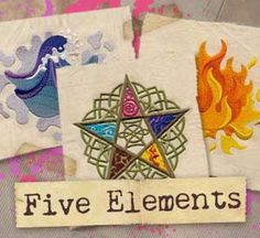 Five Elements (Design Pack) design (UTP1010) from UrbanThreads.com  #myfavoriteembroidery