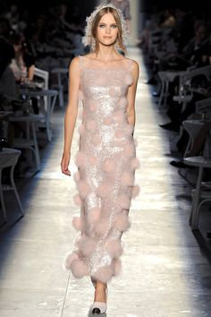 """Chanel    It's like she's wearing a """"puff-ball"""" dress! Someone please wear this for me in real life!"""