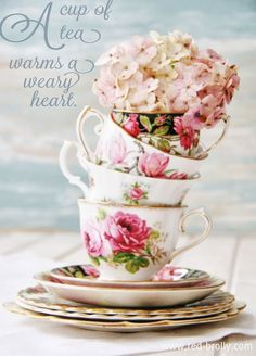A cup of tea warms a weary heart.