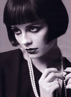 Louise Brooks. If only I considered for one moment I could look like this with a bob, as opposed to like Jim Carrey in Dumb and Dumber...