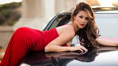 This HD wallpaper is about melyssa grace brunette women model car red dress sexy, hairstyle, Original wallpaper dimensions is file size is Slimming World, Hugs, Videos Photos, Winner, Brunette Woman, Beauty Hacks Video, Skinny, Beauty Quotes, Female Models