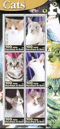 Benin - Cats on stamps index