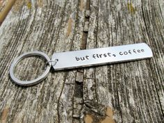 But First Coffee Hand Stamped Aluminum by MandarrCreations on Etsy