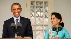 """US President Barack Obama and opposition politician Aung San Suu Kyi. US President Barack Obama and opposition politician Aung San Suu Kyi  At a news conference with US President Barack Obama, Myanmar opposition leader Aung San Suu Kyi said the reform process in the once military-ruled nation had hit a """"bumpy patch"""". Myanmar, also known as Burma, moved to civilian rule in 2010 and is governed by a military-backed civilian administration."""