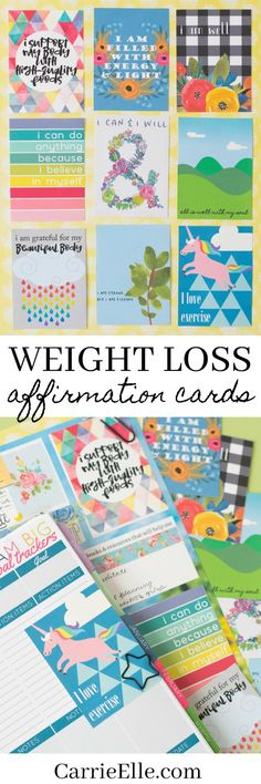 Free Printable Weight Loss Affirmation Cards (and how to use them!)