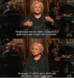 Betty White humor
