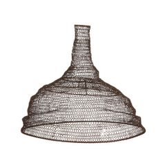 Metal wire mesh pendant light lamp shade oval industrial loft jatani wire lamp shade conical rust keyboard keysfo Choice Image
