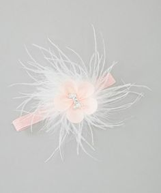Take a look at this Pink '1' Marabou Headband by Too Sweet on #zulily today!