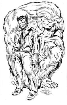 marvel1980s:  johnbyrnedraws:  Wolverine & Sasquatch commission by John Byrne. 2011.  An Alpha Flight What if?