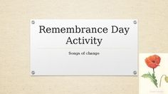 Remembrance Day Collaborative Activity Remembrance Day Activities, Learning Goals, Place Card Holders, Teaching, Songs, Learning Targets, Learning Objectives, Education, Song Books