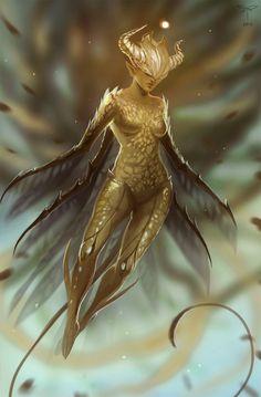 Golden Fairy by telthona.deviantart.com on @deviantART
