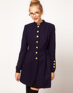 Military Style Skirted Coat- Winter is coming!