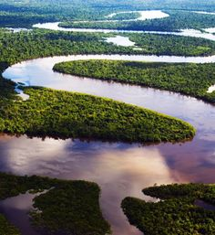 Amazon River seen via riverboat tour from Belem to Santarem, Brazil.