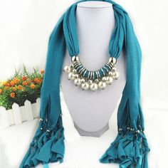 Online Buy Wholesale beaded scarf necklace from China beaded scarf ...