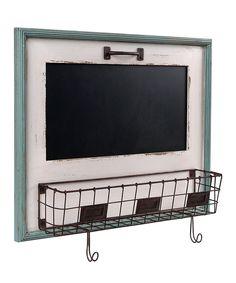 Love this White Blackboard & Letter Holder Basket by Wilco on #zulily! #zulilyfinds