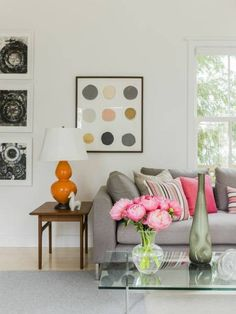 3. Start neutral; mix in splashes of color