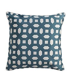 teal and white throw pillow