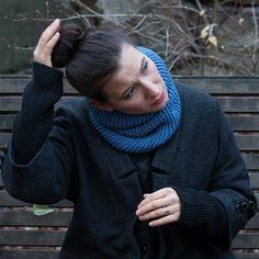 100% Merino Wool Snood (Jeans Blue)