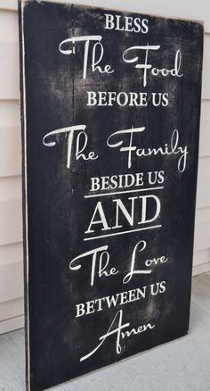 dining room signs custom prayer signs family by DesignsOnSigns3, $45.00