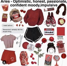 your future according to changing of ZODIAC SEASON, your personality explain in the way of a MEME Aesthetic Fashion, Look Fashion, Aesthetic Clothes, Teen Fashion, Fashion Outfits, Aries Aesthetic, Aesthetic Memes, Vintage Outfits For Teens, Aries Outfits