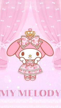 My Melody Sanrio, Melody Hello Kitty, Hello Kitty Art, My Melody Wallpaper, Sanrio Wallpaper, Kitty Wallpaper, Japanese Cartoon, Cute Japanese, Kawaii Bedroom