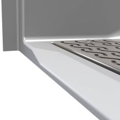 """This is a barrier free shower. The model has a Beveled """"B"""" threshold with a front trench drain and a beautiful real tile wall pattern finish. Shower Threshold, Roll In Showers, Trench Drain, Shower Seat, Aging In Place, Smooth Walls, Custom Shower, Wall Patterns, Accent Colors"""