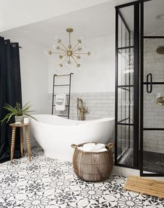 Small Bathroom Design Ideas Recommended For You. Creating a relaxing space in a small bathroom can be tricky, but bathroom design experts and new lines of compact sanitaryware. Bathroom Renos, Basement Bathroom, Remodel Bathroom, Shiplap Bathroom, Bathroom Renovations, Bathroom Mirrors, Chandelier In Bathroom, Silver Bathroom, Bathroom Black