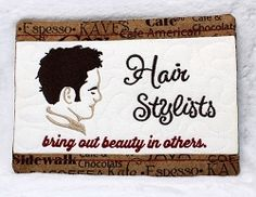 Hairstylists Mug Rug 2 - 5x7 | What's New | Machine Embroidery Designs | SWAKembroidery.com Oma's Place
