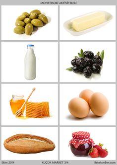 2-3 Yaş İçin 7 Montessori Aktivitesi Healthy Eating Tips, Healthy Nutrition, Healthy Kids, Healthy Habits, Healthy Recipes, Food Flashcards, Flashcards For Kids, Food Crafts, Preschool Crafts