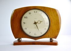 1960s Smiths Sectronic Mark 1 Clock Wooden Clock Vintage Mantel Clock Vintage Lounge Clock Vintage Clock Home Decor Battery Clock by FillyGumbo