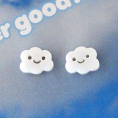 cloud earrings by makeilabowers