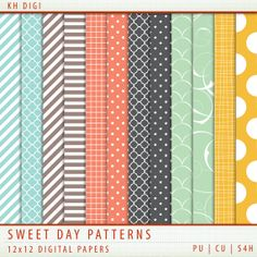 Sweet Day Digital Paper