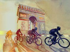 Tour de France Art Print by Takmaj | Society6
