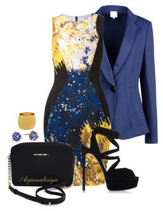PRABAL GURUNG DRESS by arjanadesign on Polyvore featuring Prabal Gurung, Armani Collezioni, Casadei, Michael Kors, Stephanie Kantis, Kate Spade, WorkWear, michaelkors and PrabalGurung