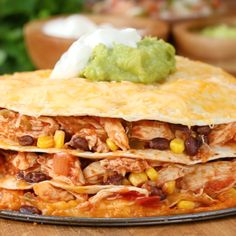 Cheesy Chicken Layer Quesadilla