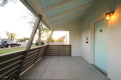 Pretty front door and front patio.