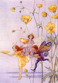 Fairies with Golden Bowls by Margaret Tarrant