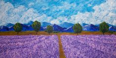 Rows of Lavender ORIGINAL DIGITAL DOWNLOAD by Mike by MikeKrausArt