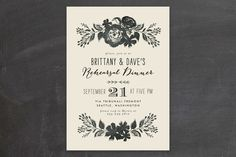 Dramatic Florals Rehearsal Dinner Invitations by Alethea and Ruth at minted.com