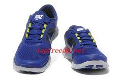 xf320w Deep Royal Blue Reflective Silver Sail Volt Nike Free Run 3 Men's Running Shoes
