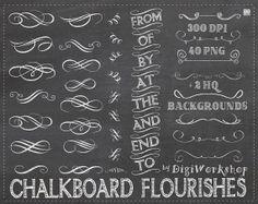 Chalkboard flourishes